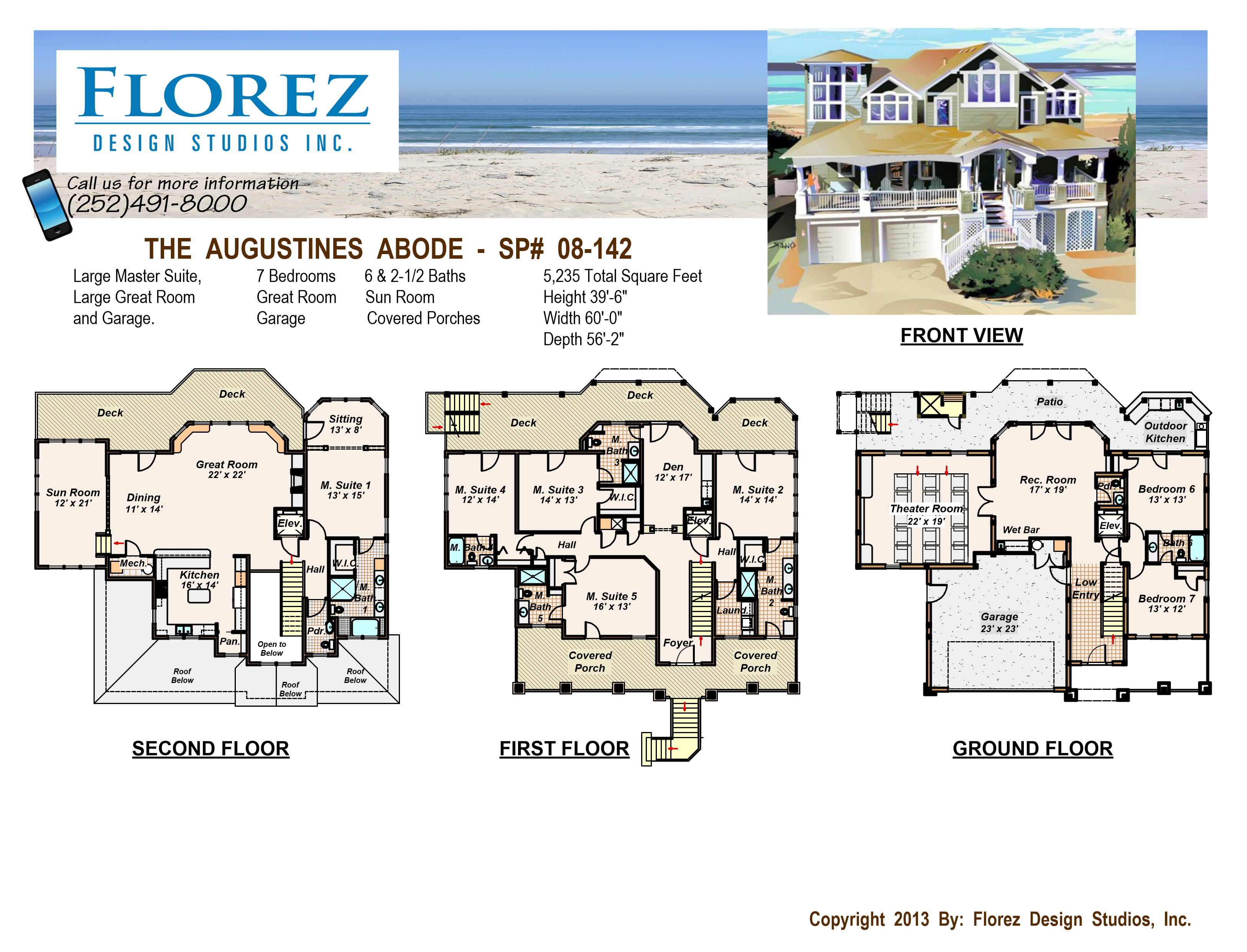 Inverted floor plans florez design studios for Inverted beach house plans