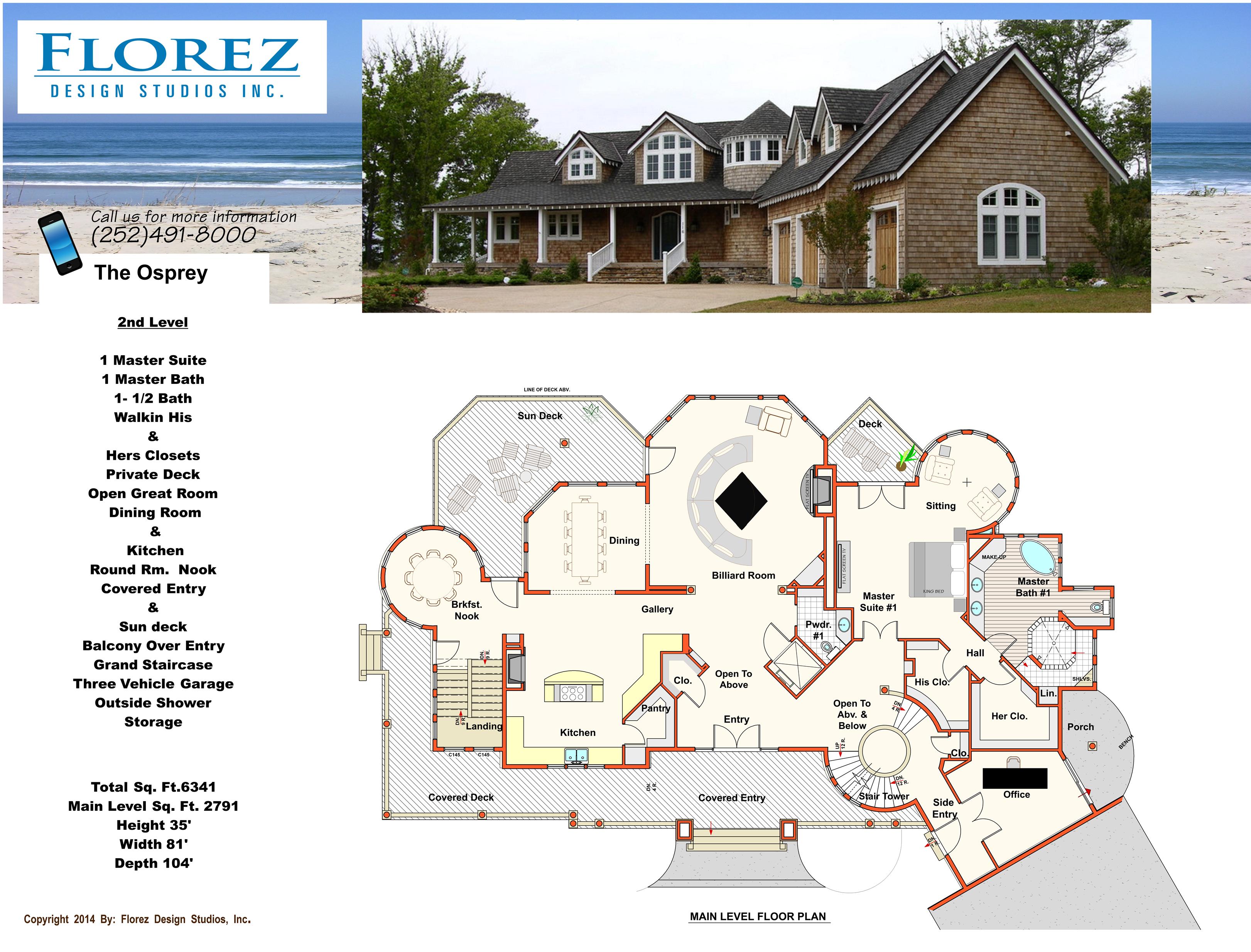 Coastal House Plans   Florez Design Studios   House Plans/Coastal ...
