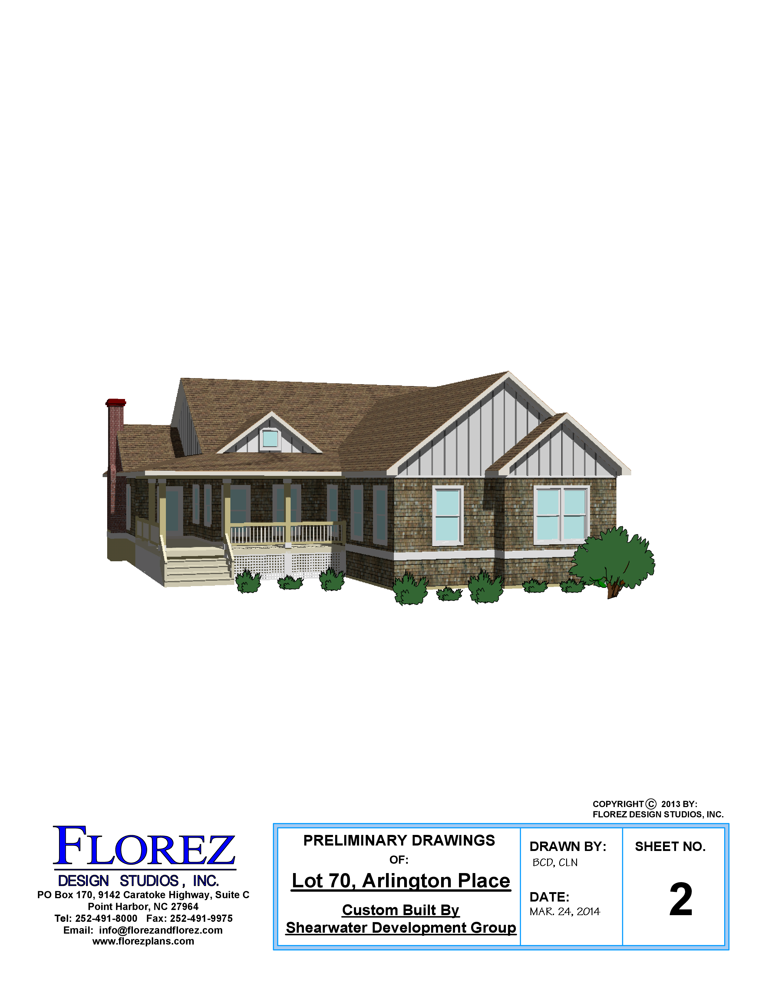 032414 Shearwater Dev Group – Lot 70 Plan Presentation – Sheet 2 ...