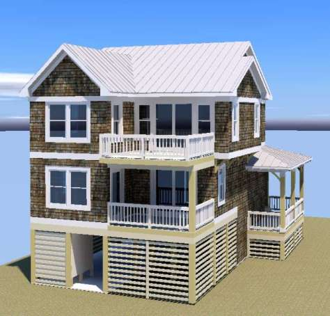 The  Buxton Bay III rear 3-d perspective