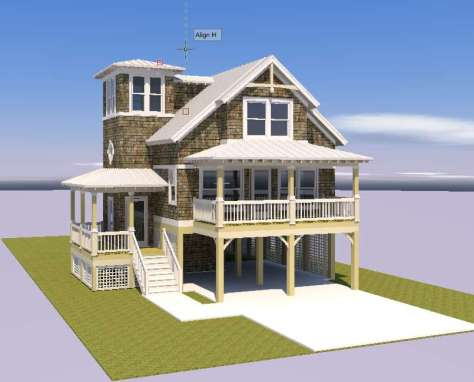 The Lightkeepers Cottage 3-d front