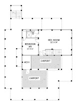 Sunchase Coastal Home First Floor Plan