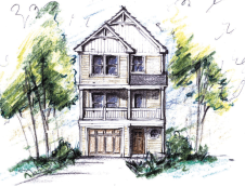 The Hyacinth Coastal Cottage | To view the floor plans visit : https://florezdesignstudios.com/2014/06/18/the-hyacinth-coastal-cottage/
