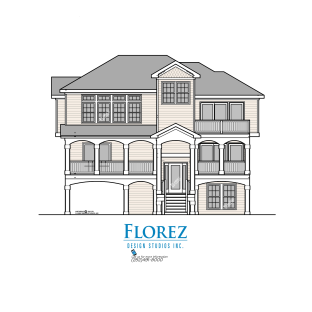 "2576 Sq. Ft. • Height 34'10"" • Width 40' • Depth 41'4"" • 5 Bedrooms • 4.5 Baths • 2 Master Suites • Open Living • Recreation Room • Pool & Hottub • Covered Entry • Front and Rear Covered Porches • Carport"