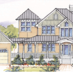 The Sea Wisper II Option B -Front Elevation To View The Floor Plans Visit : https://florezdesignstudios.com/2014/07/21/the-sea-whisper-ii-option-b/